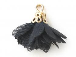 Acheter Pendentif fleur pompon en organza - noir - 0,49€ en ligne sur La Petite Epicerie - 100% Loisirs créatifs