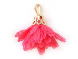 Acheter Pendentif fleur pompon en organza - rose framboise - 0,49€ en ligne sur La Petite Epicerie - 100% Loisirs créatifs