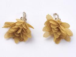 Acheter Pendentif fleur pompon en organza - moutarde - 0,49€ en ligne sur La Petite Epicerie - 100% Loisirs créatifs