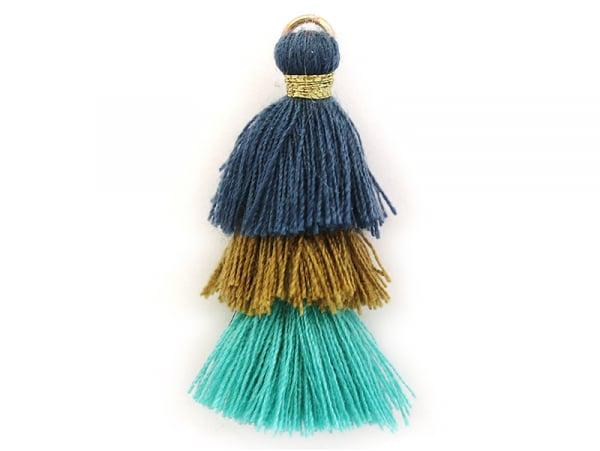 Acheter Pendentif triple pompon - bleu , vert , canard - 0,99€ en ligne sur La Petite Epicerie - 100% Loisirs créatifs