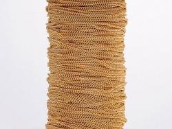 Chaîne gourmette 1,1 mm dorée acier inox x 20 cm  - 4