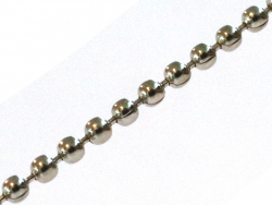 Chaîne bille 1,5 mm - couleur argent foncé x 20 cm  - 1