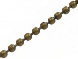 Acheter Chaine bille couleur bronze 1,5 mm x 20 cm - 0,40€ en ligne sur La Petite Epicerie - Loisirs créatifs
