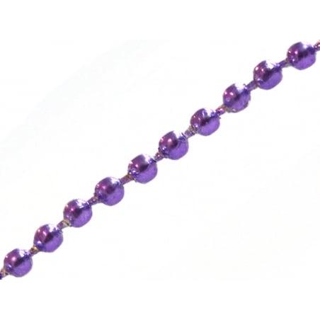 Acheter Chaine bille violette 1,5 mm x 20 cm - 0,40€ en ligne sur La Petite Epicerie - Loisirs créatifs