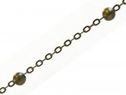 Acheter Chaîne forçat à bille couleur bronze x 20 cm - 0,89€ en ligne sur La Petite Epicerie - Loisirs créatifs
