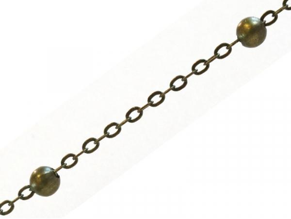 Chaîne forçat à bille couleur bronze x 20 cm  - 1