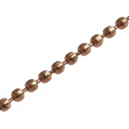 Chaine bille 1,5 mm marron x 20 cm  - 1