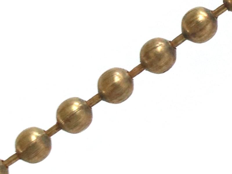 Acheter Chaine bille 2,4 mm bronze x 20 cm - 0,39€ en ligne sur La Petite Epicerie - Loisirs créatifs