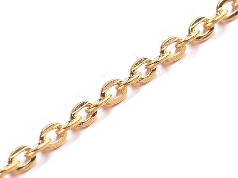 Acheter Chaine forçat dorée 3 mm x 20 cm - 0,39€ en ligne sur La Petite Epicerie - Loisirs créatifs