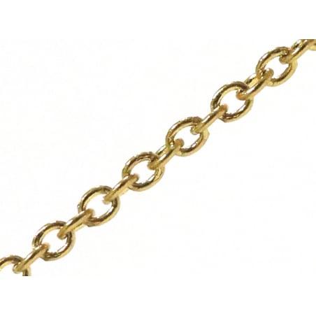 Acheter Chaîne forçat 1,5 mm acier inox. dorée x 20 cm - 0,69€ en ligne sur La Petite Epicerie - 100% Loisirs créatifs