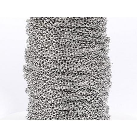 Acheter Chaine forçat 1,5 mm en acier inoxydable - argenté foncé x 20 cm - 0,69€ en ligne sur La Petite Epicerie - 100% Lois...