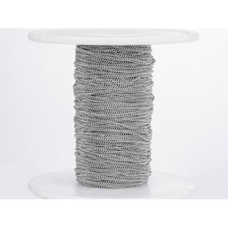 Acheter Chaine gourmette 1,1 mm en acier inoxydable - argenté foncé x 20 cm - 0,69€ en ligne sur La Petite Epicerie - Loisir...