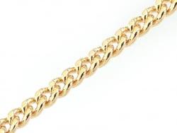 Chaine gourmette 1,6 mm dorée à l'or fin 24K x 20 cm  - 1