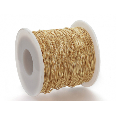 Acheter Chaine gourmette 1,6 mm dorée à l'or fin 24K x 20 cm - 1,48€ en ligne sur La Petite Epicerie - Loisirs créatifs