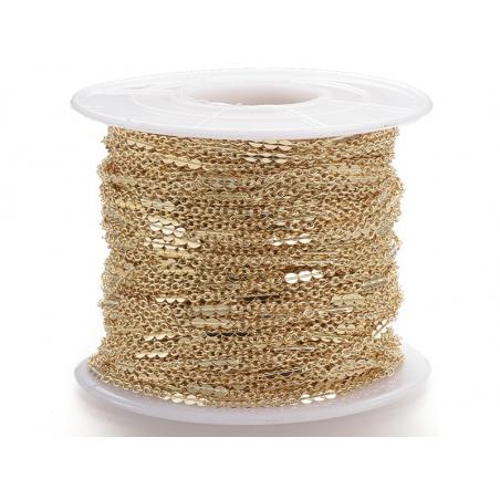 Acheter Chaine forçat 1 mm fantaisie dorée à l'or fin 24K x 20 cm - 1,49€ en ligne sur La Petite Epicerie - 100% Loisirs cré...