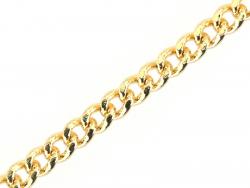 Chaine gourmette 2,5 mm dorée à l'or fin 24K x 20 cm  - 1