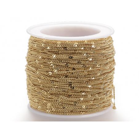 Acheter Chaine gourmette nuage 1,3 mm dorée à l'or fin 24K x 20 cm - 1,49€ en ligne sur La Petite Epicerie - Loisirs créatifs
