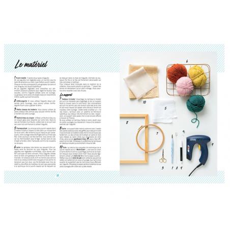 Livre - Punch needle, créations de broderie en relief MANGO - 6