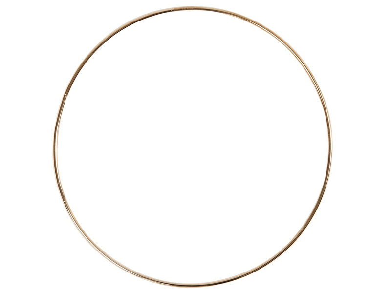 Cercle en métal doré - 20 cm  - 1