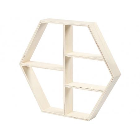 Acheter 1 étagère en bois - forme hexagonale - 8,99€ en ligne sur La Petite Epicerie - 100% Loisirs créatifs