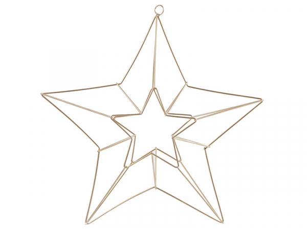 Acheter Etoile décorative 3D à suspendre - métal doré - 11,99€ en ligne sur La Petite Epicerie - Loisirs créatifs