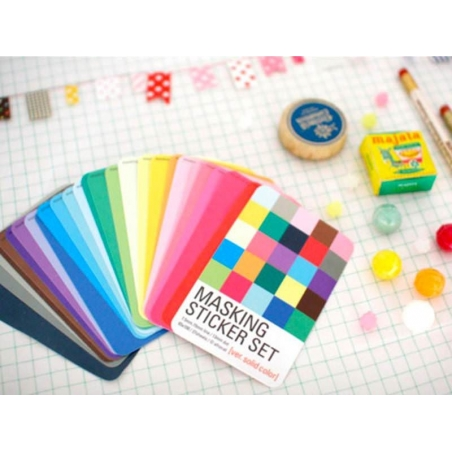 Masking Sticker Set - version couleurs unies
