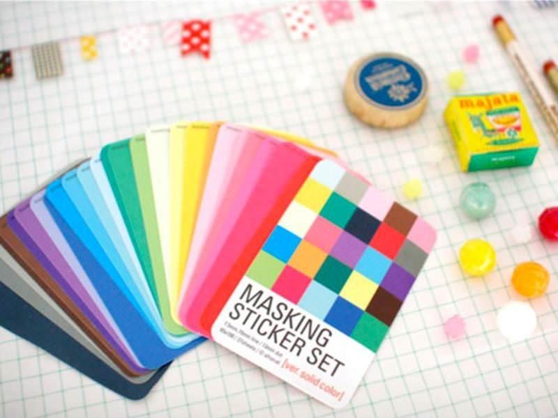 Masking sticker set - Plain colours
