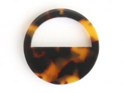 Acheter Pendentif rond demi-lune écaille de tortue en acétate - 1,09€ en ligne sur La Petite Epicerie - 100% Loisirs créatifs