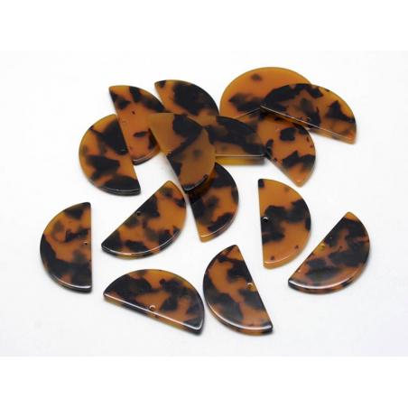 Acheter Pendentif demi lune écaille de tortue en acétate - 0,59€ en ligne sur La Petite Epicerie - 100% Loisirs créatifs