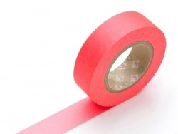 Plain-coloured masking tape - neon red