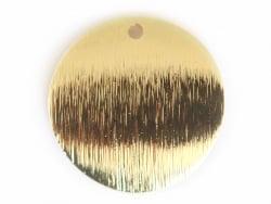 Acheter Pendentif rond bombé 18 mm - doré à l'or fin - 1,69€ en ligne sur La Petite Epicerie - 100% Loisirs créatifs