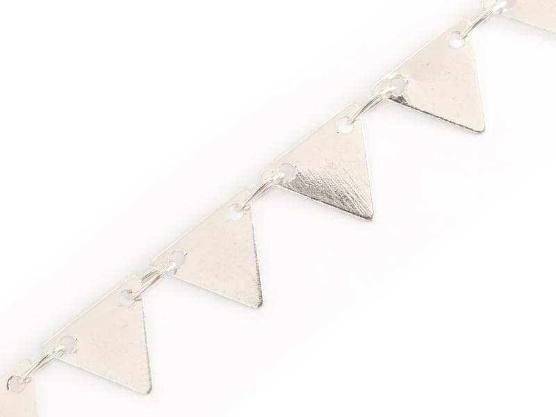 Acheter Chaîne fanion triangles 6 mm - plaqué argent 925 x 20 cm - 0,69€ en ligne sur La Petite Epicerie - Loisirs créatifs