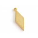 Pendentif losange allongé - doré à l'or fin