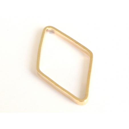 Pendentif losange évidé - doré à l'or fin  - 1