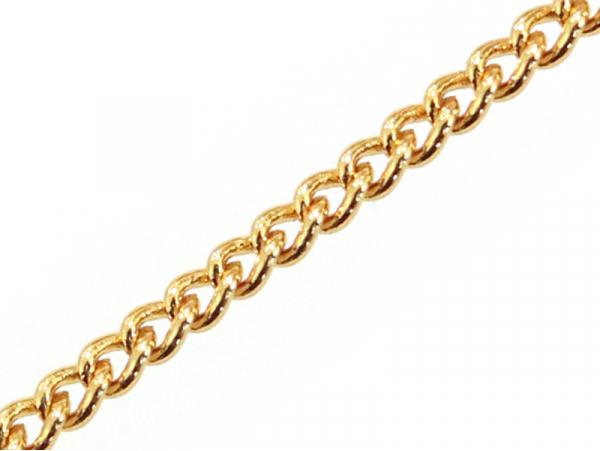 Chaîne gourmette 2 mm - dorée à l'or fin 24 K x 20 cm  - 1