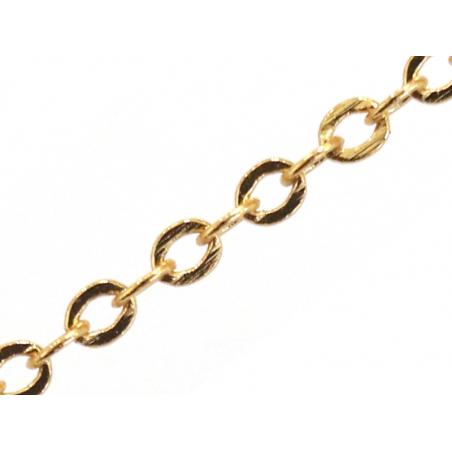 Acheter Chaîne forçat 1,8 x 2 mm - doré à l'or fin 24 K x 20 cm - 1,59€ en ligne sur La Petite Epicerie - Loisirs créatifs
