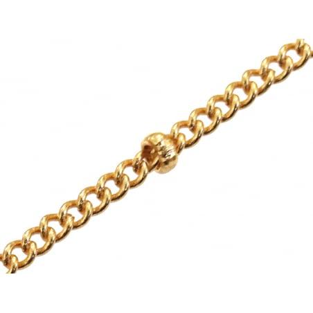 Acheter Chaîne gourmette perlée - doré à l'or fin 24 K x 20 cm - 1,39€ en ligne sur La Petite Epicerie - 100% Loisirs créatifs
