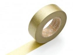 Plain-coloured masking tape - golden