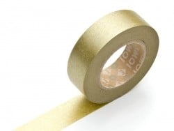 Plain-coloured masking tape - golden