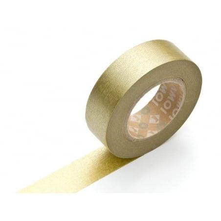 Masking tape uni - Doré