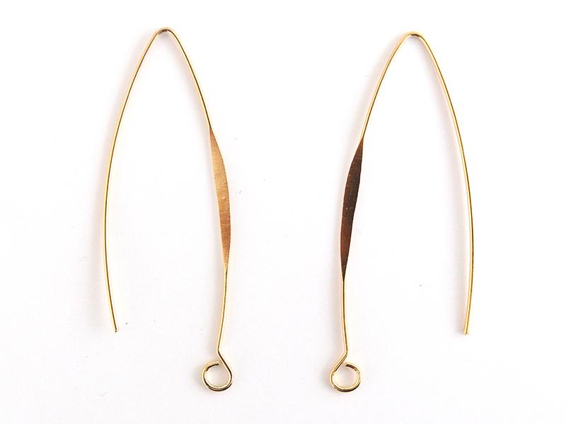 Acheter Paire de boucles d'oreilles dormeuses avec anneau - dorée à l'or fin - 2,49€ en ligne sur La Petite Epicerie - Loisi...