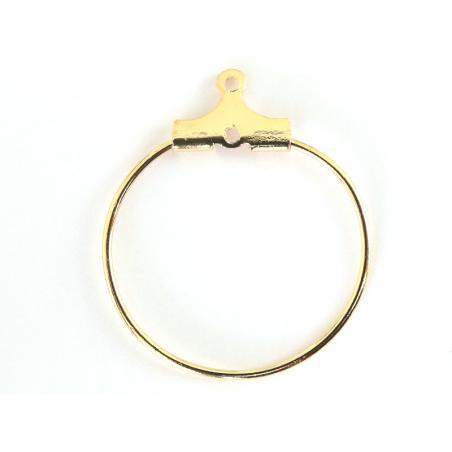 Acheter Lot de 2 intercalaires créoles 20mm - doré à l'or fin 18K - 0,89€ en ligne sur La Petite Epicerie - Loisirs créatifs