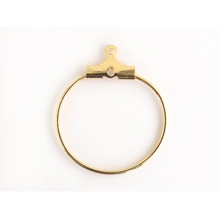 Lot de 2 intercalaires créoles 20mm - doré à l'or fin 18K  - 2