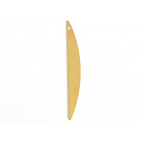 Pendentif demi-cercle allongé - doré à l'or fin  - 1