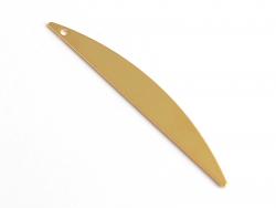 Pendentif demi-cercle allongé - doré à l'or fin  - 2
