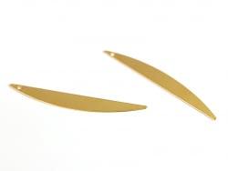 Pendentif demi-cercle allongé - doré à l'or fin  - 3