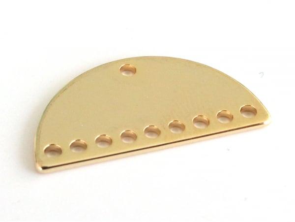 Connecteur demi-cercle 20mm - doré à l'or fin  - 1