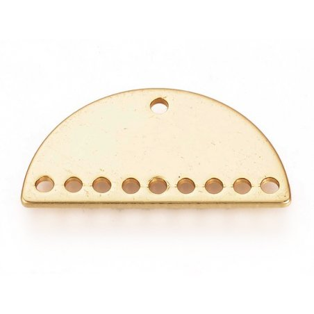 Connecteur demi-cercle 20mm - doré à l'or fin  - 3