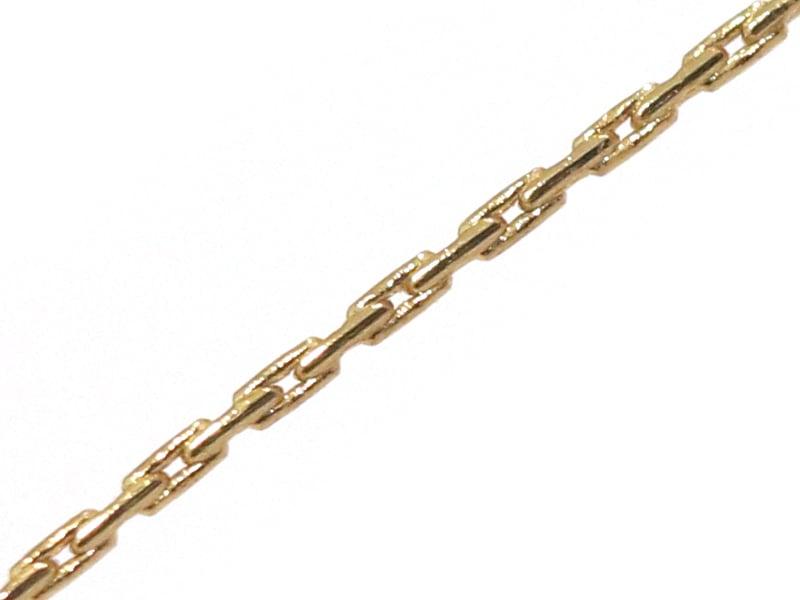 Chaîne serpentine 0,7 mm - doré à l'or fin 24 K x 20 cm  - 1