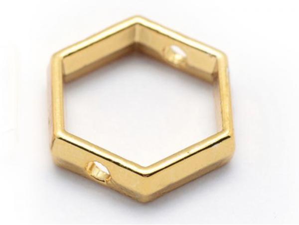 Connecteur hexagonal - doré à l'or fin  - 1